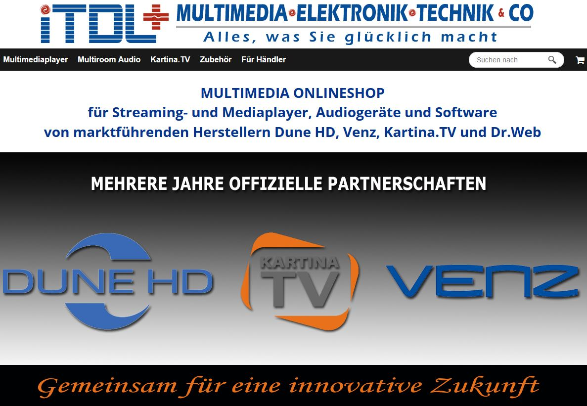 iTDL+ Multimedia Onlineshop